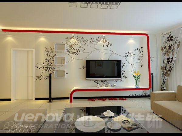影视墙 业之峰装饰作品 家居设计图库 效果图,实景图,样板